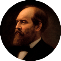 President James Abram Garfield, the 20th President of the United States, 7th cousin 5x removed